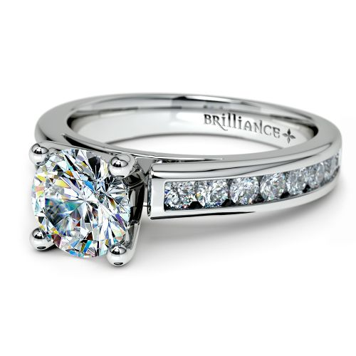 channel cathedral engagement ring in palladium 1
