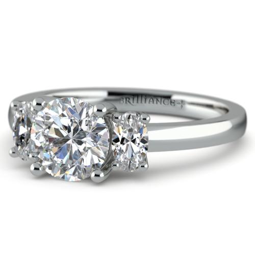 Oval Diamond Engagement Ring in Platinum 1 2 ctw