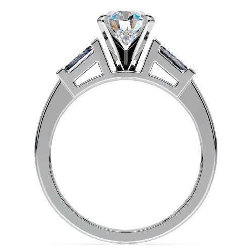 Baguette Diamond Engagement Ring in Platinum (1/3 ctw) | Image 02
