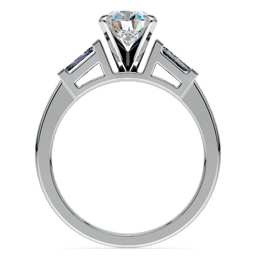 Baguette Diamond Engagement Ring in Platinum (1/3 ctw) | Image 02