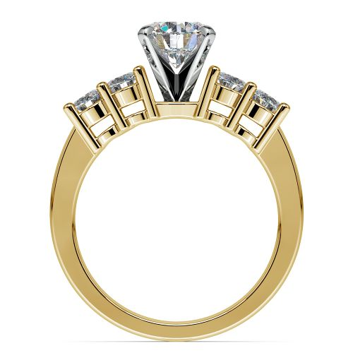 Round Diamond Engagement Ring in Yellow Gold (1/3 ctw) | Image 02