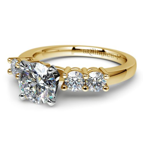 Round Diamond Engagement Ring in Yellow Gold (1/3 ctw) | Image 04