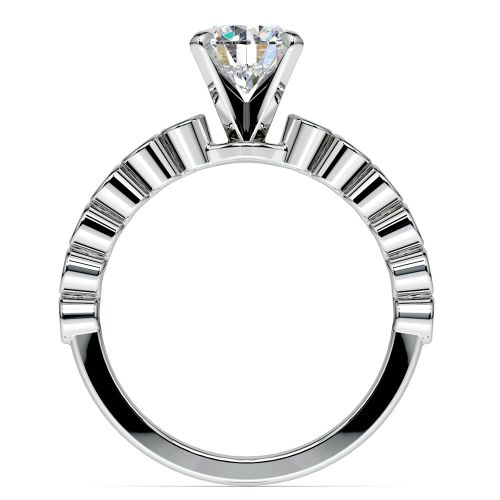 Bezel Diamond Engagement Ring in Palladium (1/4 ctw) | Image 02
