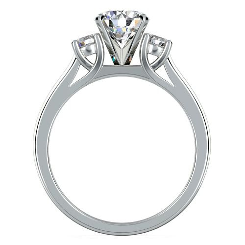 Round Diamond Engagement Ring in White Gold 1 4 ctw
