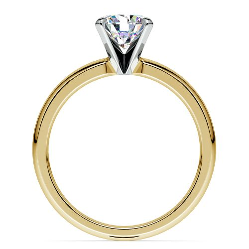 classic solitaire engagement ring in yellow gold image 02
