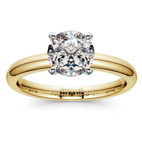 Comfort-Fit Solitaire Engagement Ring in Yellow Gold (2.5mm)  | Image 01