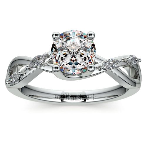 Florida Ivy Diamond Engagement Ring in White Gold | Brilliance.com Top Ten Engagement Rings #7