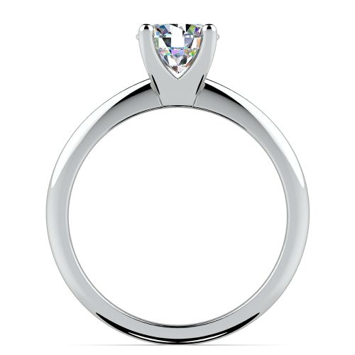 Knife Edge Solitaire Engagement Ring in Palladium | Image 02