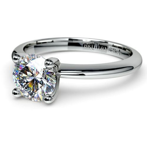 Knife Edge Solitaire Engagement Ring in Palladium | Image 04