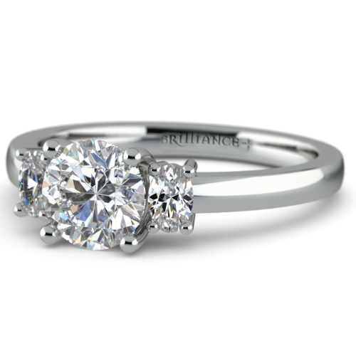 Oval Diamond Engagement Ring in White Gold 1 3 ctw