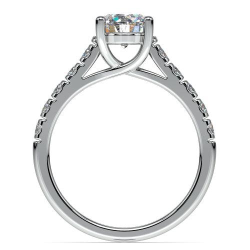 Trellis Diamond Engagement Ring in White Gold