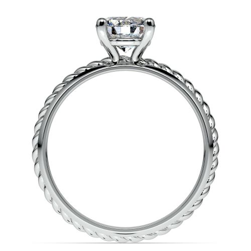 twisted rope comfort fit solitaire engagement ring in