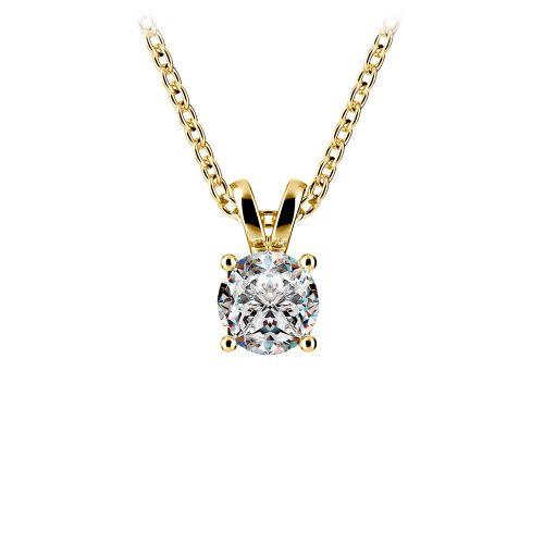 Round Diamond Solitaire Pendant in Yellow Gold (1/2 ctw) | Image 01