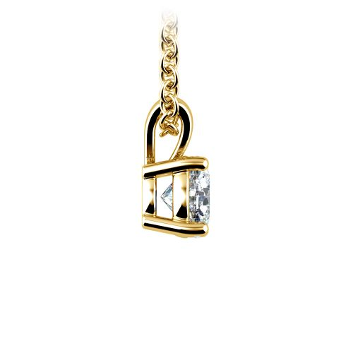 Round Diamond Solitaire Pendant in Yellow Gold (1/2 ctw) | Image 02