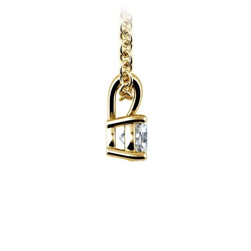 Round Diamond Solitaire Pendant in Yellow Gold (1/3 ctw) | Image 02