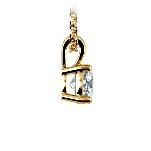 Round Diamond Solitaire Pendant in Yellow Gold (3/4 ctw) | Image 02