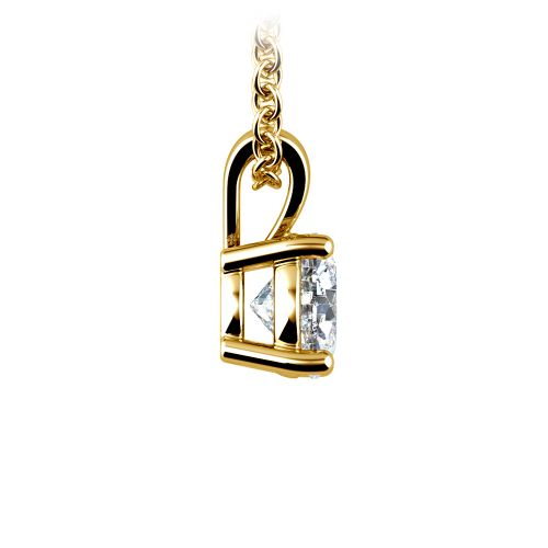 Round Diamond Solitaire Pendant in Yellow Gold (3/4 ctw) | Image 02