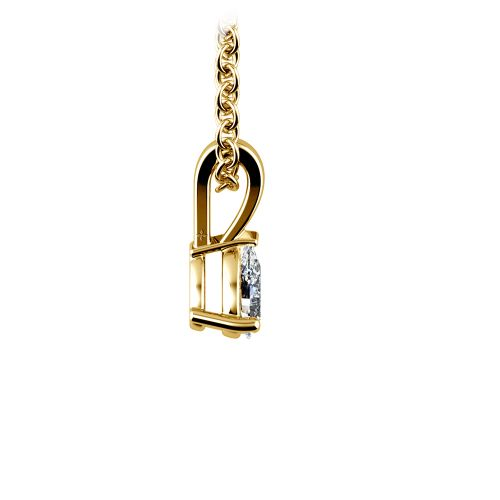 Pear Diamond Solitaire Pendant in Yellow Gold (1/5 ctw) | Image 02
