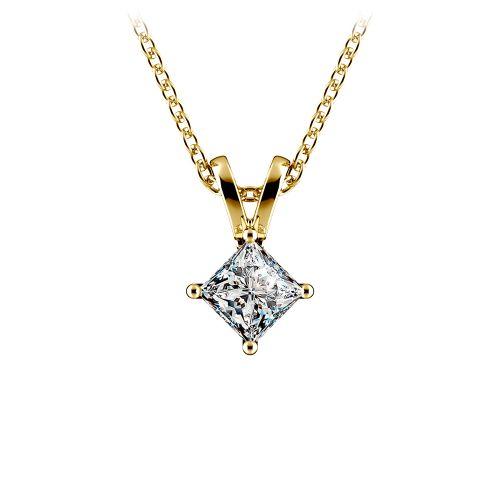 Princess Diamond Solitaire Pendant in Yellow Gold (1/5 ctw)  | Image 01