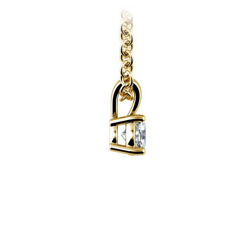 Round Diamond Solitaire Pendant in Yellow Gold (1/5 ctw) | Image 02