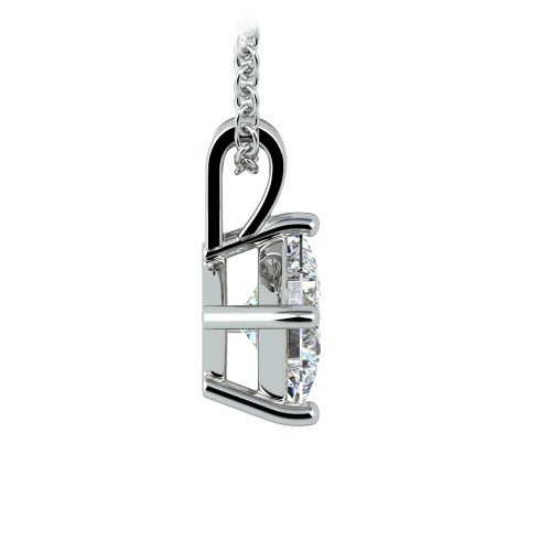 Asscher Diamond Solitaire Pendant in Platinum (1 ctw)  | Image 02