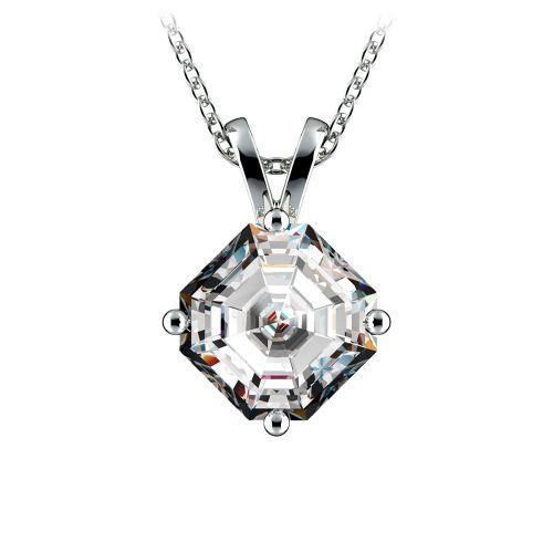 Asscher Diamond Solitaire Pendant in Platinum (2 ctw)  | Image 01