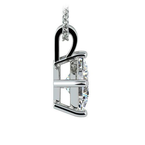 Asscher Diamond Solitaire Pendant in Platinum (2 ctw)  | Image 02