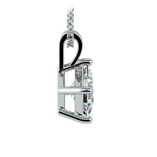 Asscher Diamond Solitaire Pendant in White Gold (1 1/2 ctw)  | Image 02