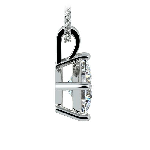 Asscher Diamond Solitaire Pendant in White Gold (2 ctw)  | Image 02