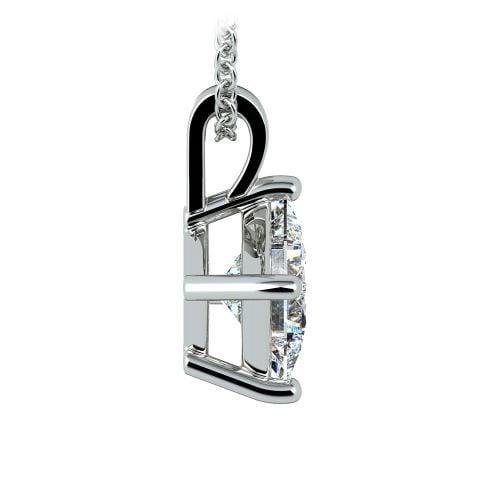 Asscher Diamond Solitaire Pendant in White Gold (2 ctw)  | Image 02