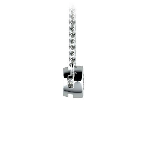 Bezel Diamond Solitaire Pendant in Platinum (1/5 ctw) | Image 02