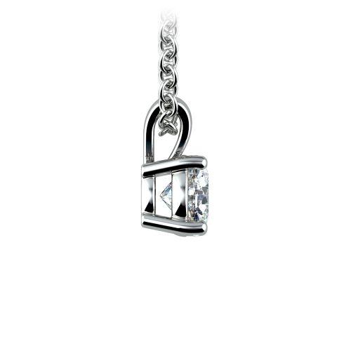 Round Diamond Solitaire Pendant in Platinum (1/2 ctw) | Image 02