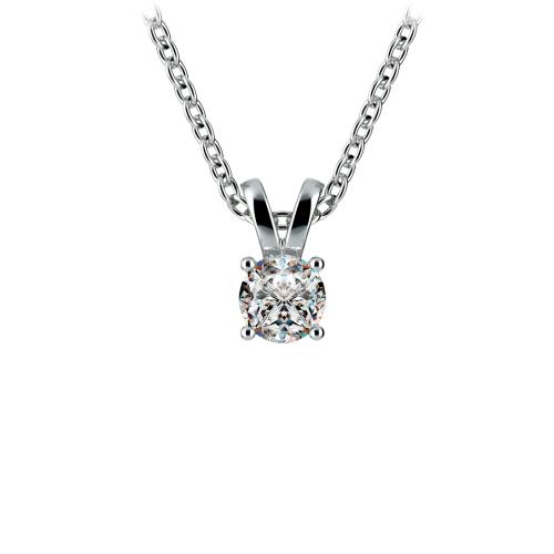 Round Diamond Solitaire Pendant in Platinum (1/4 ctw) | Image 01