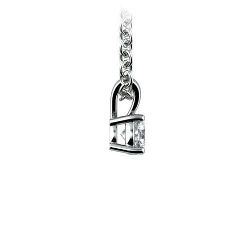 Round Diamond Solitaire Pendant in Platinum (1/5 ctw)   Image 02