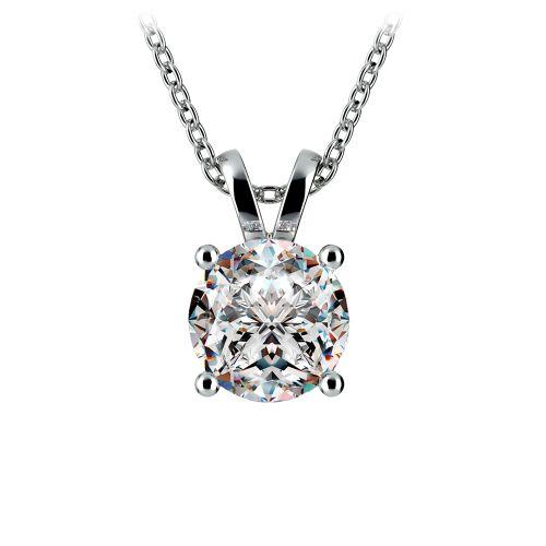 Round Diamond Solitaire Pendant in Platinum (2 ctw) | Image 01