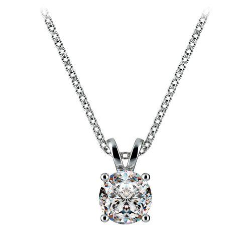 Round Diamond Solitaire Pendant in Platinum (3/4 ctw) | Image 01