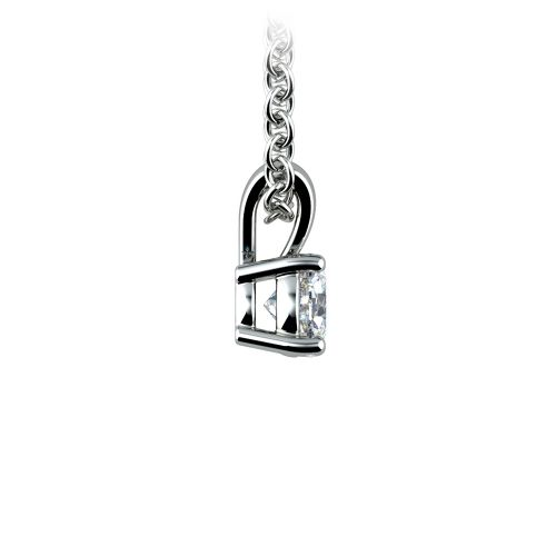 Round Diamond Solitaire Pendant in White Gold (1/3 ctw) | Image 02