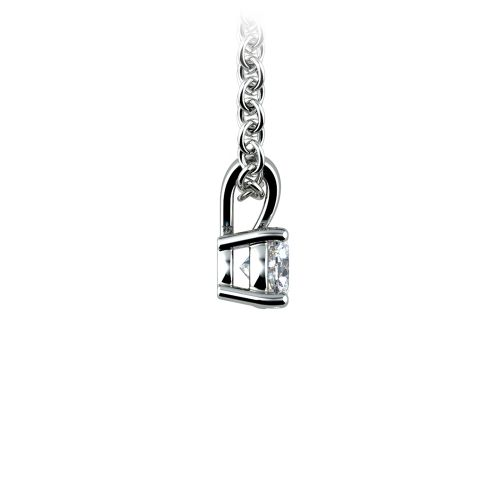 Round Diamond Solitaire Pendant in White Gold (1/5 ctw) | Image 02