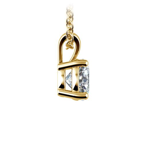 Round Diamond Solitaire Pendant in Yellow Gold (1 ctw) | Image 02