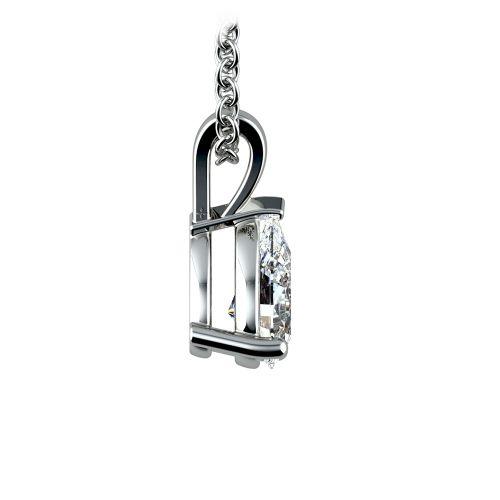 Pear Diamond Solitaire Pendant in Platinum (1/2 ctw) | Image 02