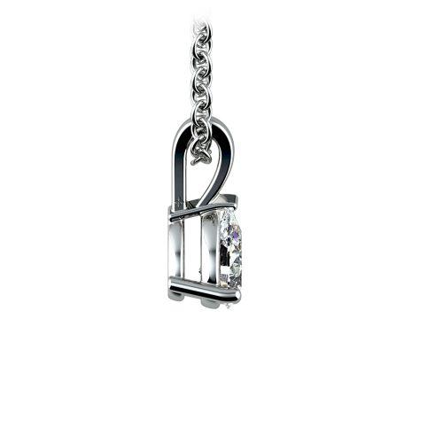 Pear Diamond Solitaire Pendant in Platinum (1/3 ctw) | Image 02