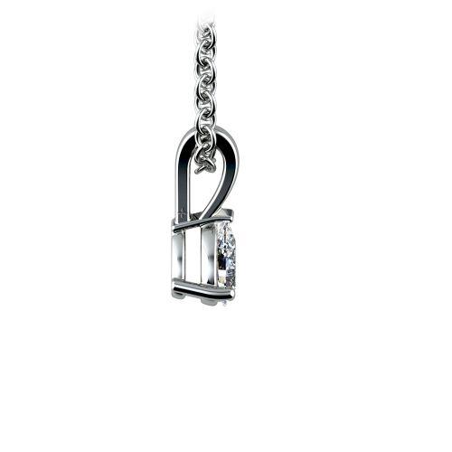 Pear Diamond Solitaire Pendant in Platinum (1/4 ctw)   Image 02