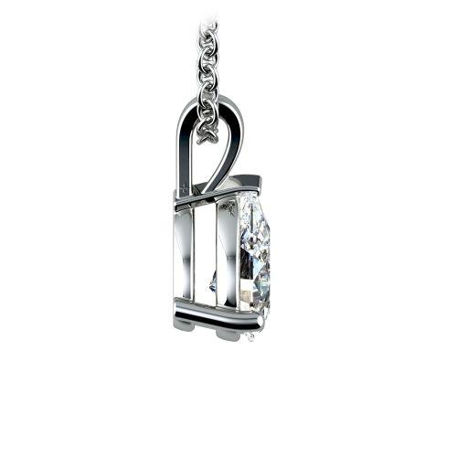 Pear Diamond Solitaire Pendant in Platinum (1 ctw) | Image 02