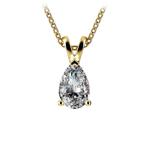 Pear Diamond Solitaire Pendant in Yellow Gold (1 ctw) | Image 01