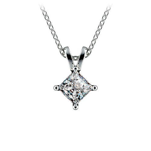 Princess Diamond Solitaire Pendant in Platinum (1/2 ctw)  | Image 01