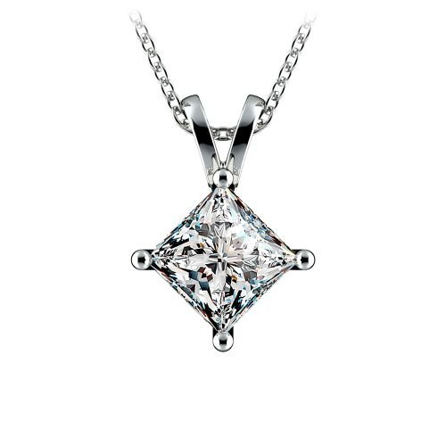 Princess Diamond Solitaire Pendant in Platinum (2 ctw)  | Image 01