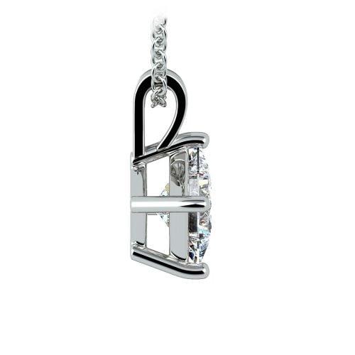 Princess Diamond Solitaire Pendant in White Gold (1 1/2 ctw)    Image 02
