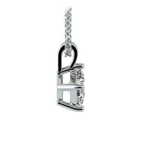 Princess Diamond Solitaire Pendant in White Gold (1/2 ctw)  | Image 02