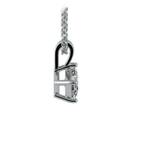 Princess Diamond Solitaire Pendant in White Gold (1/4 ctw)  | Image 02