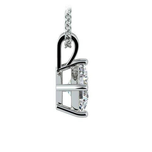 Princess Diamond Solitaire Pendant in White Gold (1 ctw)  | Image 02